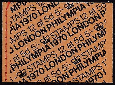 """1970 Booklet """"Philympia, London"""" (SG#HP34)"""