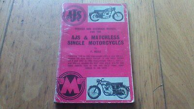 Ajs & Matchless Single Motorcycles Service And Overhaul Manual By F. Neill 250/3