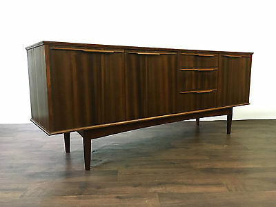 Mid Century Morris of Glasgow Walnut and Teak Sideboard Retro Credenza Vintage