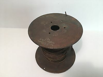 Vintage Anaconda Brass Spool With Copper Wire American Brass Company