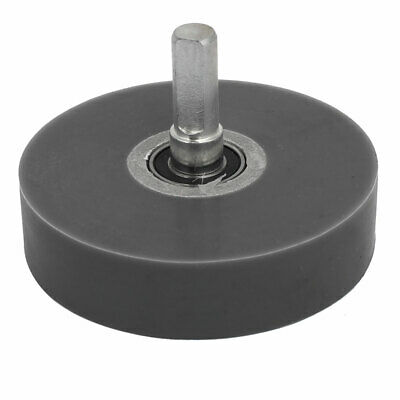 80mm Wheel 10mm Shaft Silicone Coated Pinch Roller Bearing Rolling Pulley Gray