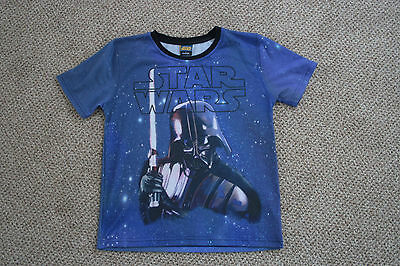 Boys star wars t shirt size 7 8 years by george for 7 year old boy shirt size