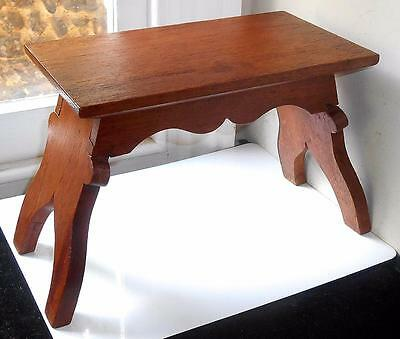 Arts & Crafts Small Wood Stool (Signed)