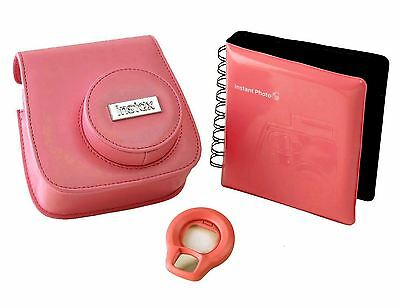 Fujifilm Accessory Kit with Case / Album / Selfie Lens for Instax Mini 8 - Pink