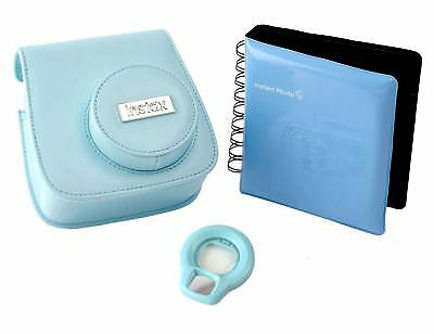 Fujifilm Accessory Kit with Case / Album / Selfie Lens for Instax Mini 8 - Blue