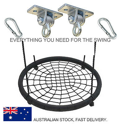 Solid Whole Piece NEST SWING 100cm Large Spider Web Seat with Hanger and hooks