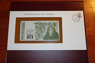 Banknotes of All Nations Central Bank of Ireland 1 Pound Banknote P.70c UNC