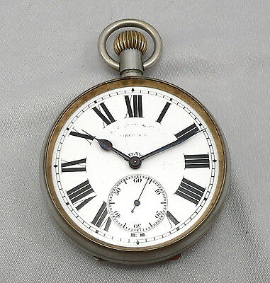 Vintage 8 DAYS Open Face Large Pocket Watch or Automobile Car Clock NO Crystal