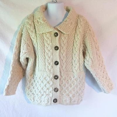 NWT SWEATERS OF IRELAND Aran Fisherman Sweater Kids Size 5-6