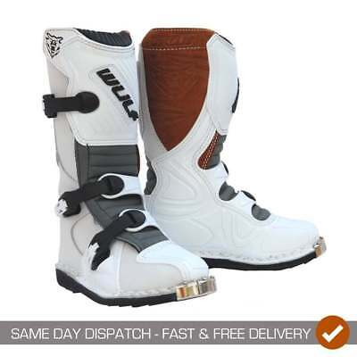 Wulfsport Cub LA Kids Childrens Youth Motocross MX Quad Motor Bike Boots
