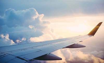 WALL MURAL PHOTO WALLPAPER XXL Airplane Wing View Sky Clouds Travel (JD-1304WS)