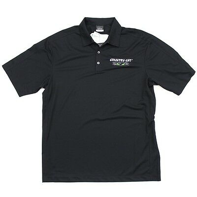 Country Cat Nike Dri-FIT Moisture Wicking Performance Golf Polo T-Shirt - Black