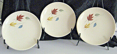 "3 Vintage Franciscan Pottery Autumn Leaf 6"" Bread And Butter Plates"
