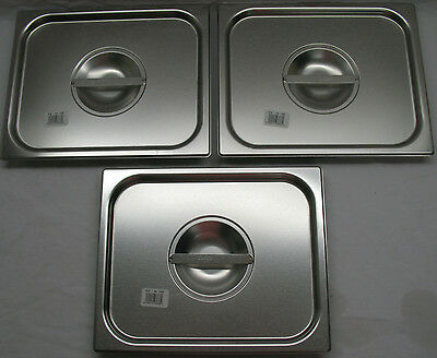 Lot of 3 - New Vollrath 75120 1/2 Half-Size Pan Cover Lid Stainless Steel