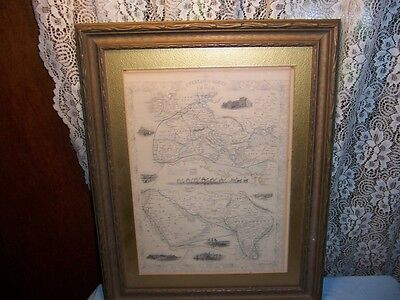 """c1850 """"OVERLAND ROUTE TO INDIA"""" Antique Map by Tallis Persia Turkey Russia Aden"""