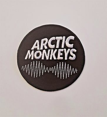 Arctic Monkeys Round Band Embroidered Iron on/ Sew on Logo Patch
