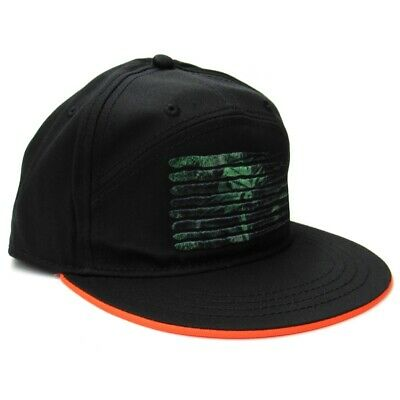 Arctic Cat Cathead 7-Panel Flat Brim Bill Baseball Cap Hat - Black - 5253-184