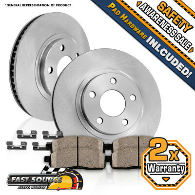 Front 280 mm Brake Disc Rotors and Ceramic Pads JEEP CHEROKEE XJ WRANGLER TJ