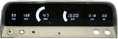 Chevy Truck DIGITAL DASH PANEL FOR 1964-1966 Gauges Intellitronix WHITE LEDs!!