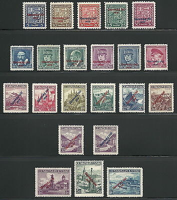 Slovakia WWII 1939 Provisional Overprint Complete Set Expertized VF MNH!