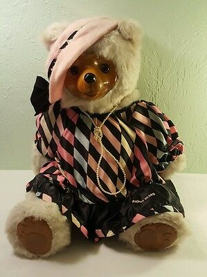 "Vintage Robert Raikes ""Maude"" BEAR Wooden Face & Feet Numbered Limited Edition"