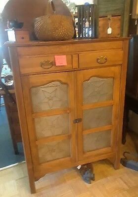 12 Tin Country Pie Safe Fruitwood