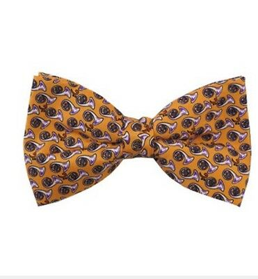 Musician PRE-TIED FRENCH HORN PATTERNS ON YELLOW MEN'S  BOW TIE