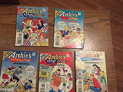 Lot of 5 Archie's Story and Game Digest