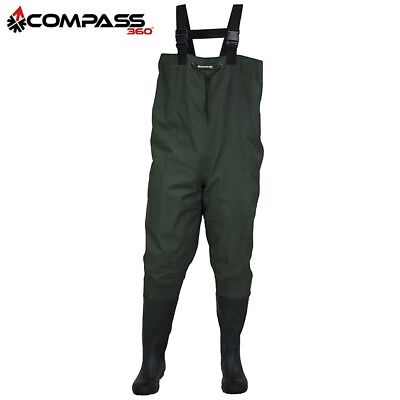 Compass 360 Oxbow 2-Ply Rubber Chest Wader (10)- Dark Green