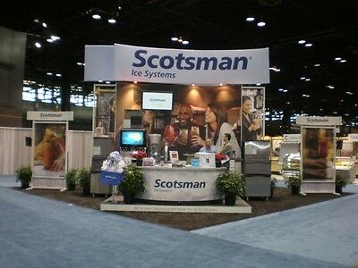 Trade Show Display Booth, Portable Modular 30x30 configures to 10x20 and 22x20