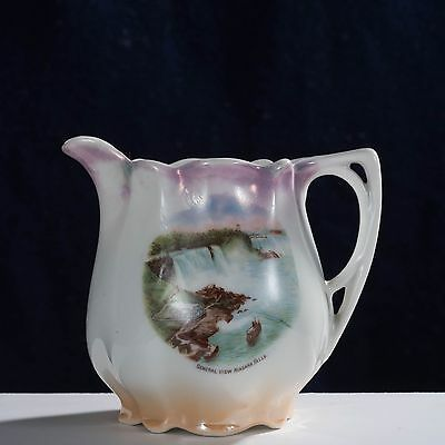 antique OPALESCENT NIAGARA FALLS creamer pitcher Made in Germany