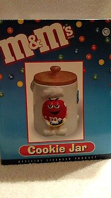 M&M's Cookie Jar With Wooden Lid