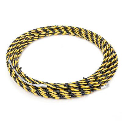 66 Feet (20M) Polyester Fish Tape Dia 0.24in (6mm) Electrical Wire Threader