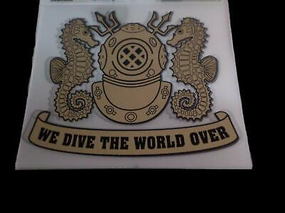 "U.s Military Navy Sea Diver Helmet Window Decal Sticker 5.25"" X 4.25"" Inches"