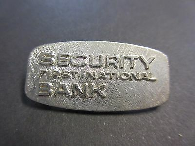 Vintage Security First National Bank Pin