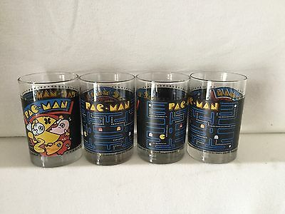 Vintage 1980 Pac-Man Arby's Collectible Drinking Glasses.Used Set Of 4.