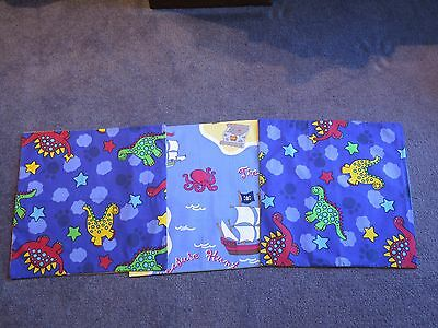 3 New Boys Dinosaur And Pirate Square Cushion Covers