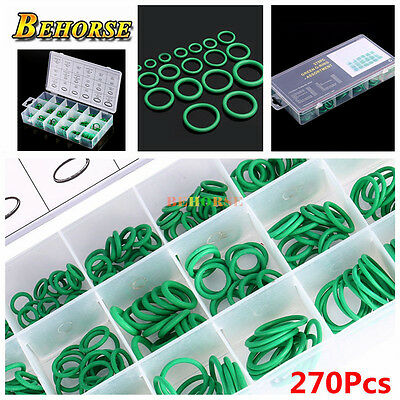 270pcs Assortment Kit Car HNBR A/C System Air Conditioning O Ring Seals Set Tool