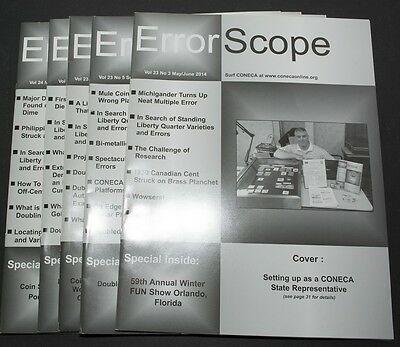 5 Issues ErrorScope Journal of the CONECA Organization Numismatic Coin Errors