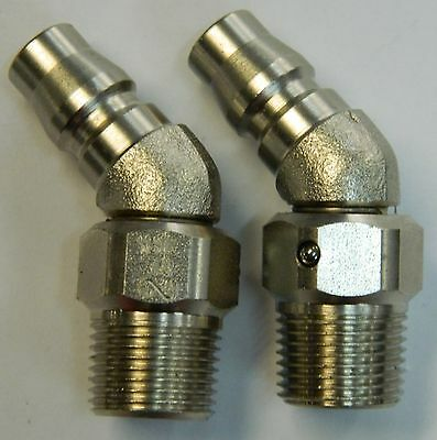 "Nitto - Rl-30Pm  Male Rotary Plugs X 2  - 3/8"" Bsp Thread"
