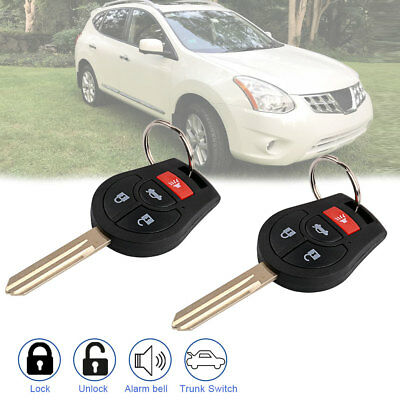 2 Replacement for Nissan 2008-2016 Rogue 2012-2015 Versa Remote Key Fob Uncut US