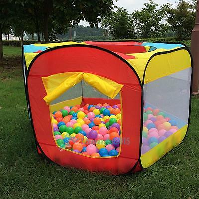 Play House Indoor Outdoor Easy Folding Ball Pit Tent Play Garden Kids Tent AU