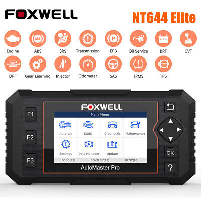 All Systems Scanner TPMS DPF ABS SRS EPB OBD2 Foxwell NT644 Full Configuration
