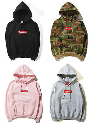 2017 Mens Ladies Supreme Hoodie Embroidered Cotton Sweatshirt Jumper Jacket