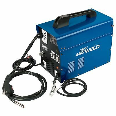 Draper Gas / Gasless Mig Welder 100A With Face Mask, Wire Spool & Brush - 16057