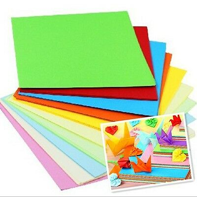 Square Double Sided Origami Folder Lucky Wish Paper Crane Craft Colorful Sheets