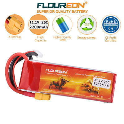 3S 11.1V 2200mAh 25C LiPo Battery XT60 for RC Car Airplane Helicopter Truck AU