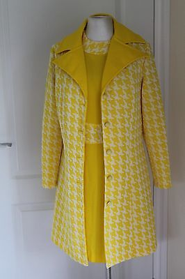 Vintage 1960's Dress and Coat Yellow