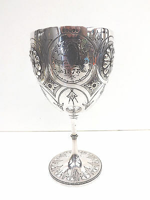 Historical Silver Plated 1878 Rowing Trophy Cup Open Fours Lynn Regatta