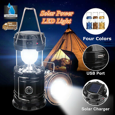 Collapsible LED Flashlight Torch Tent Lantern Light Lamp for Camping Hiking